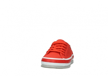 wolky lace up shoes 01230 linda 96500 red canvas_20