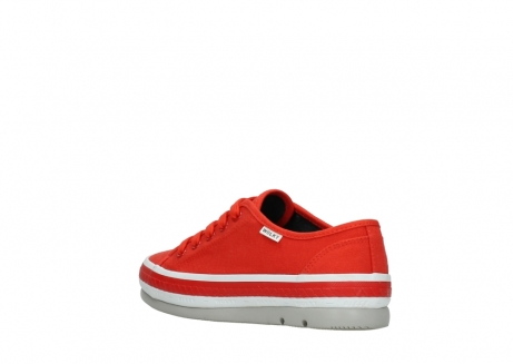 wolky lace up shoes 01230 linda 96500 red canvas_4