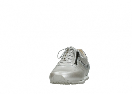 wolky lace up shoes 01402 morgan 81130 silver leather_20