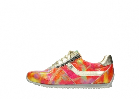 wolky chaussures a lacets 01402 morgan 91990 cuir jaune multi_1