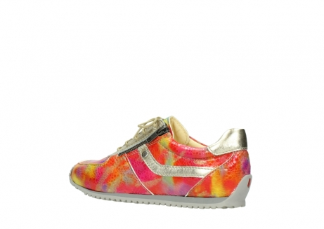 wolky chaussures a lacets 01402 morgan 91990 cuir jaune multi_3