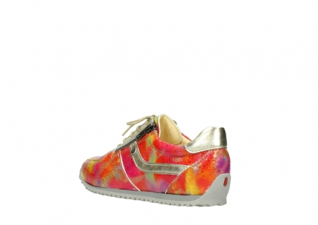 wolky chaussures a lacets 01402 morgan 91990 cuir jaune multi_4