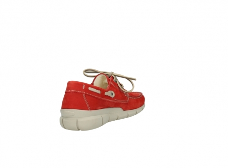 wolky lace up shoes 01509 cahita 10570 red nubuck_9