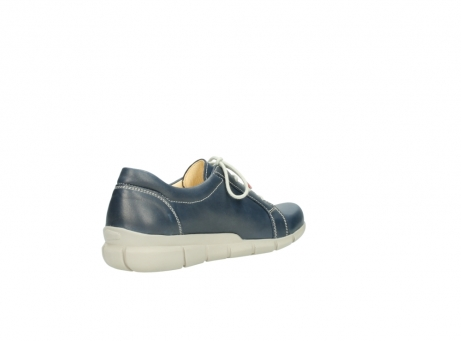 wolky lace up shoes 01510 pima 80800 blue leather_10