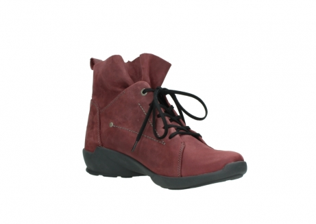 wolky lace up shoes 01574 bello 10510 burgundy nubuck_16