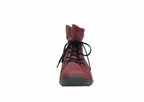 wolky lace up shoes 01574 bello 10510 burgundy nubuck_19