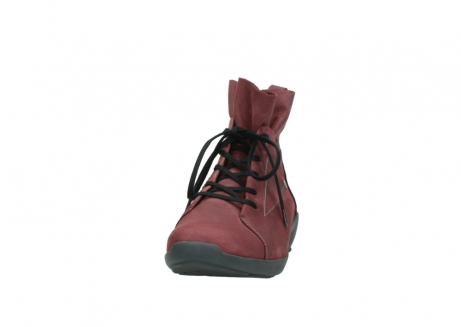 wolky lace up shoes 01574 bello 10510 burgundy nubuck_20