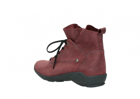 wolky lace up shoes 01574 bello 10510 burgundy nubuck_4