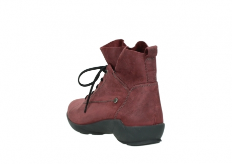 wolky lace up shoes 01574 bello 10510 burgundy nubuck_5