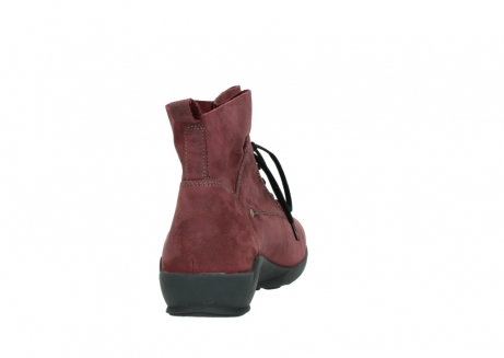 wolky lace up shoes 01574 bello 10510 burgundy nubuck_8
