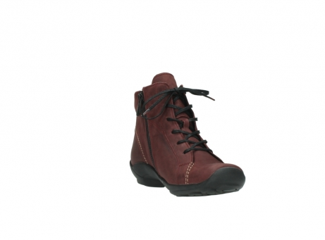 wolky chaussures a lacets 01685 naomi 50510 cuir bordeaux_17