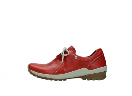 wolky lace up shoes 01739 yellowstone 20500 red leather_1