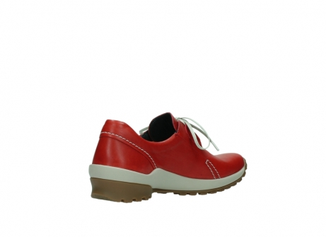 wolky lace up shoes 01739 yellowstone 20500 red leather_10
