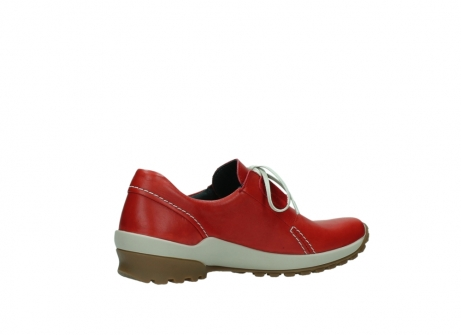 wolky lace up shoes 01739 yellowstone 20500 red leather_11