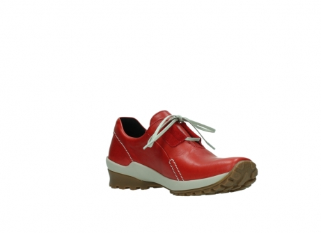 wolky lace up shoes 01739 yellowstone 20500 red leather_16