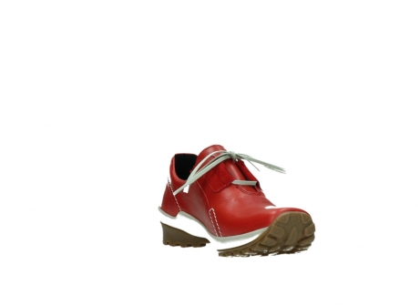 wolky lace up shoes 01739 yellowstone 20500 red leather_17
