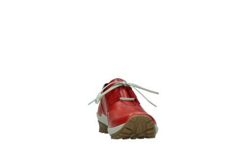 wolky lace up shoes 01739 yellowstone 20500 red leather_18