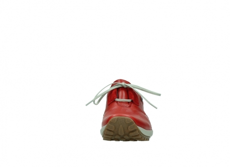 wolky lace up shoes 01739 yellowstone 20500 red leather_19