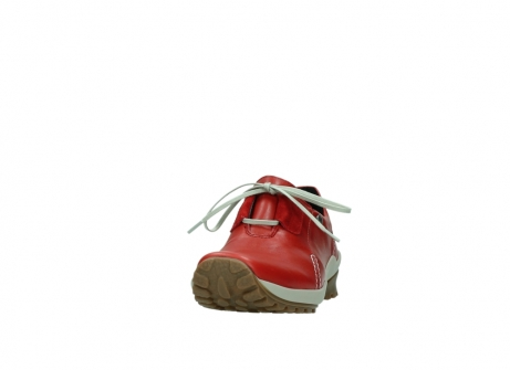 wolky lace up shoes 01739 yellowstone 20500 red leather_20