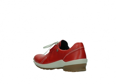 wolky lace up shoes 01739 yellowstone 20500 red leather_4