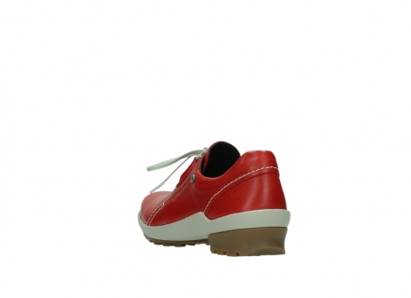 wolky lace up shoes 01739 yellowstone 20500 red leather_5
