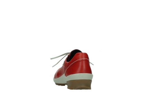 wolky lace up shoes 01739 yellowstone 20500 red leather_6