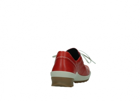 wolky lace up shoes 01739 yellowstone 20500 red leather_8