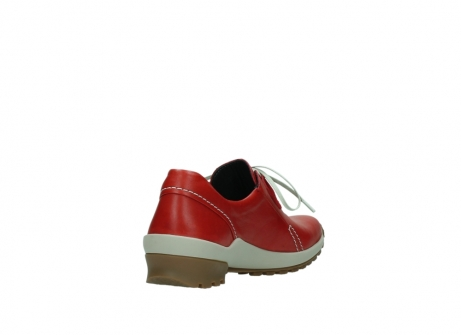 wolky lace up shoes 01739 yellowstone 20500 red leather_9