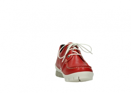 wolky lace up shoes 01750 natalia 70570 red leather_18