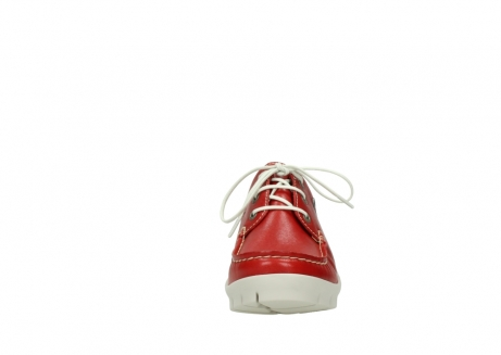 wolky lace up shoes 01750 natalia 70570 red leather_19