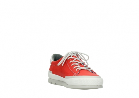 wolky lace up shoes 01926 katla 30500 red leather_17
