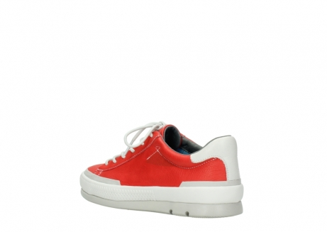 wolky lace up shoes 01926 katla 30500 red leather_4
