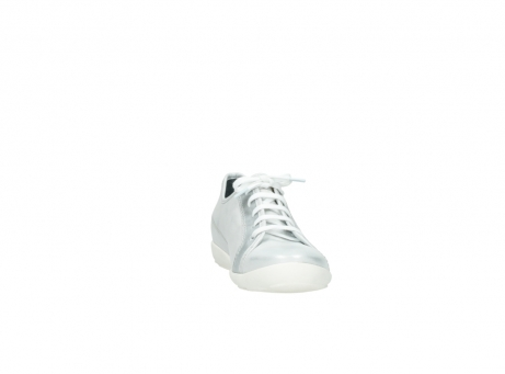wolky lace up shoes 02025 calama 30130 silver leather_18