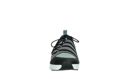 wolky lace up shoes 02054 nero 90008 black blue knitting_7