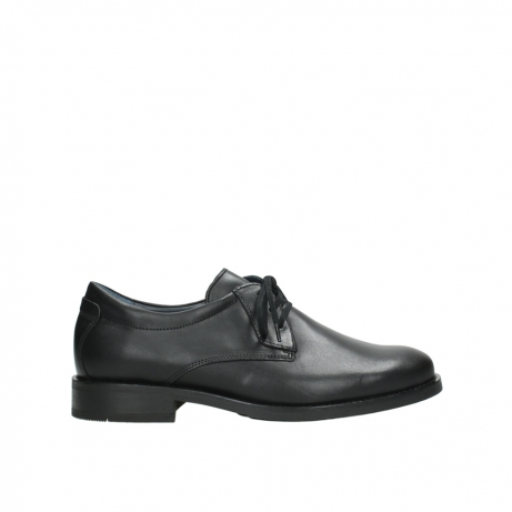 wolky lace up shoes 02180 santiago 31000 black leather