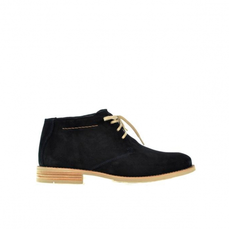 wolky lace up shoes 02188 sucre 40800 dark blue brushed suede