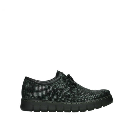 wolky chaussures a lacets 02325 vic 47715 daim vert
