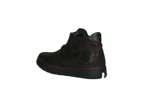 wolky lace up shoes 02326 rap 43510 bordo metal suede_16