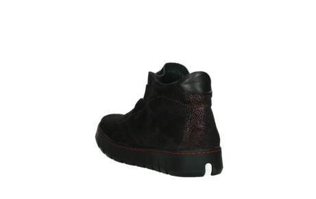 wolky lace up shoes 02326 rap 43510 bordo metal suede_17