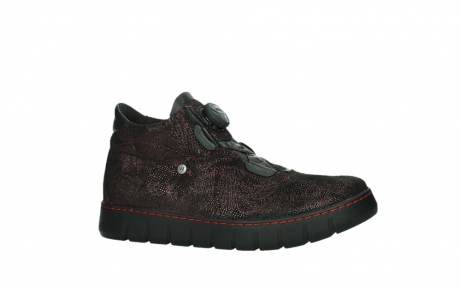 wolky lace up shoes 02326 rap 43510 bordo metal suede_2