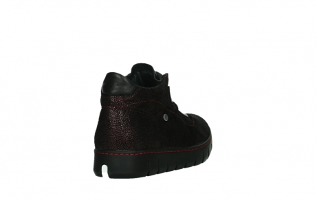 wolky lace up shoes 02326 rap 43510 bordo metal suede_21