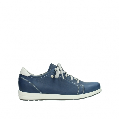 wolky chaussures a lacets 02420 kinetic 30840 cuir bleu denim