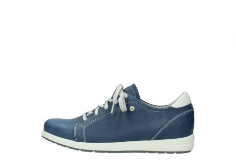 wolky chaussures a lacets 02420 kinetic 30840 cuir bleu denim_1