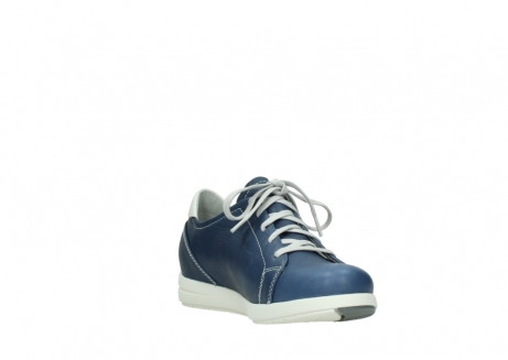 wolky lace up shoes 02420 kinetic 30840 jeans blue leather_17