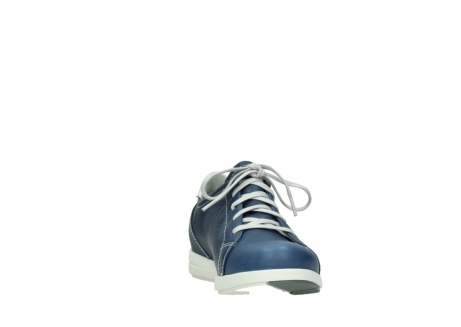 wolky lace up shoes 02420 kinetic 30840 jeans blue leather_18