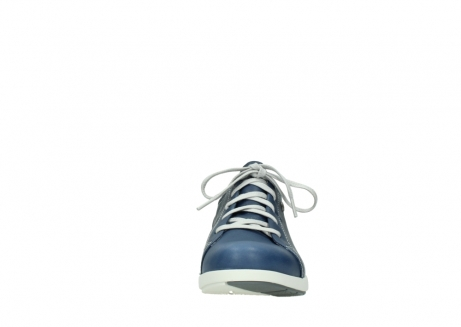wolky chaussures a lacets 02420 kinetic 30840 cuir bleu denim_19