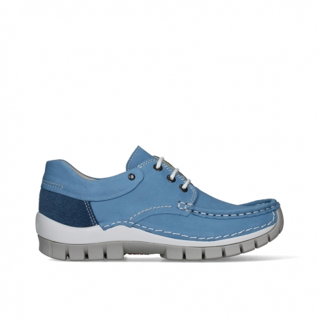 wolky lace up shoes 04701 fly 11856 baltic blue nubuck