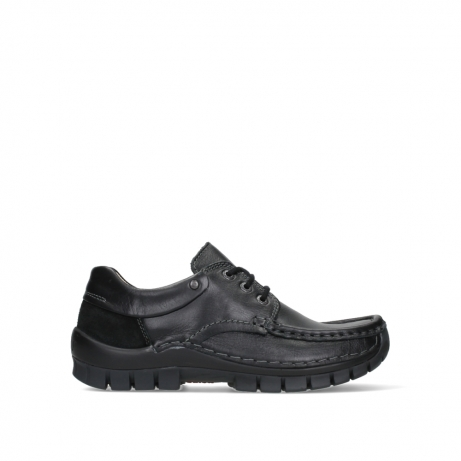 wolky chaussures a lacets 04701 fly 20080 cuir noir