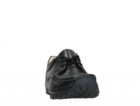 wolky chaussures a lacets 04701 fly 20080 cuir noir_6
