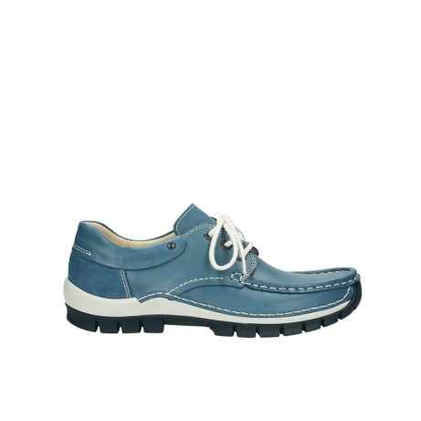 wolky chaussures a lacets 04701 fly 20890 cuir bleu
